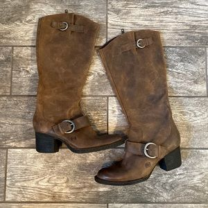 Born shaylee heeled leather zip up boot tall 8.5